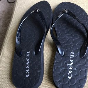 Coach thongs flip flop worn but in good shape